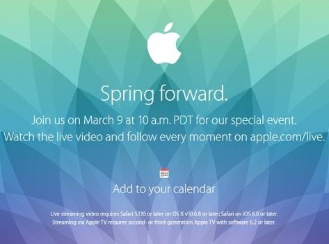 Apple smartwatch presentation